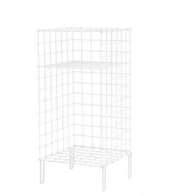 Comodino Wire One - / Comodino - L 30 x H 66 cm di Houtique - Bianco - Metallo