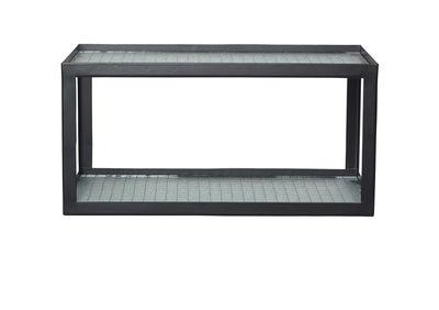 Etagère Haze / L 35 cm - Verre armé & métal - Ferm Living noir,translucide en métal