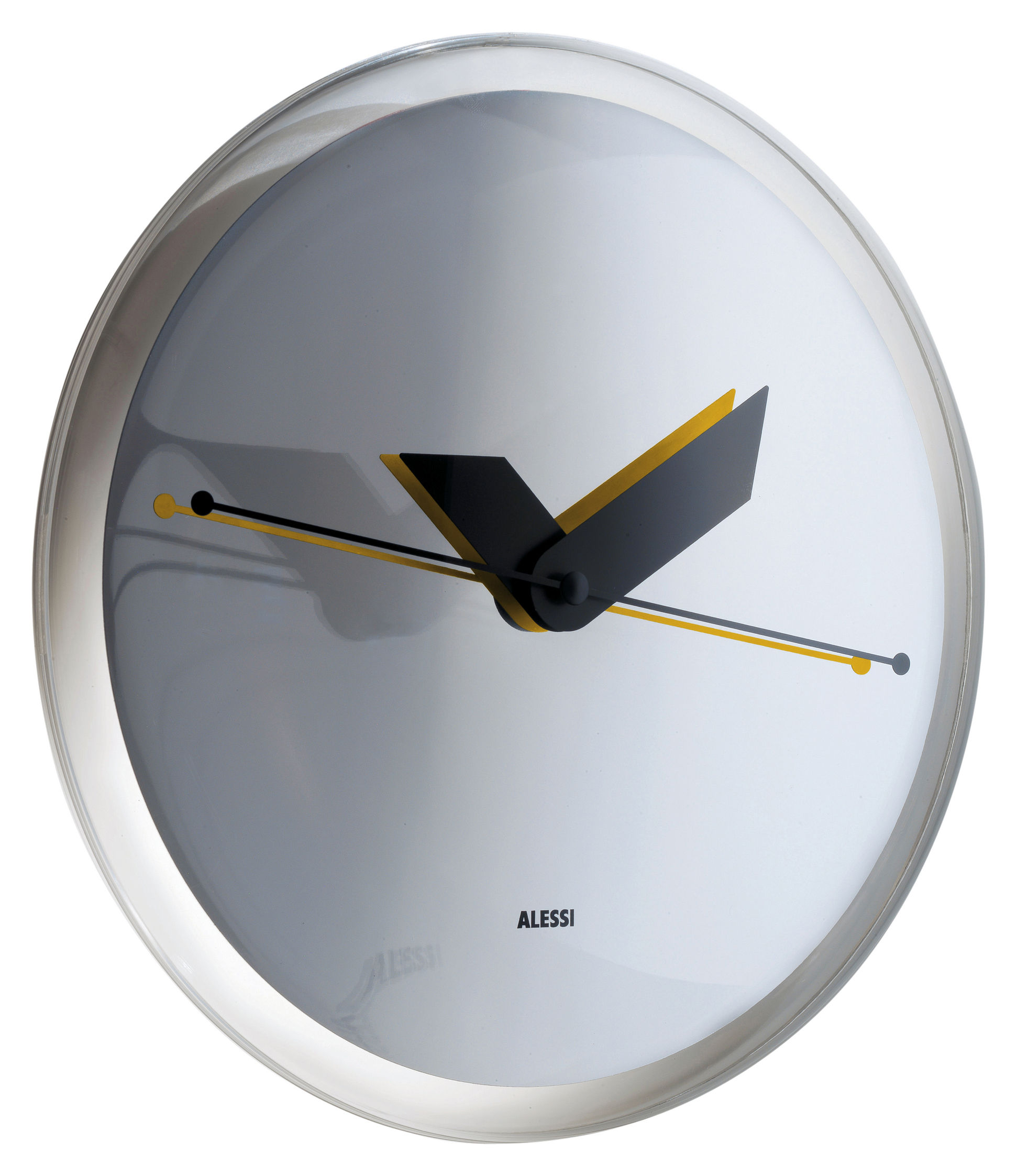 Horloge Murale Sole Mirror Miroir Alessi