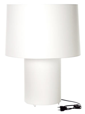 Lighting - Table Lamps - Double Round light Table lamp by Moooi - White - Cotton