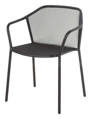 Darwin Stapelbarer Sessel / Metall - Emu - Altes Eisen