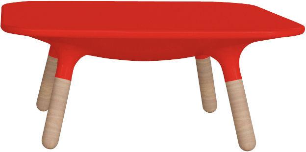 table basse marguerite h 30 cm rouge br l stamp edition. Black Bedroom Furniture Sets. Home Design Ideas