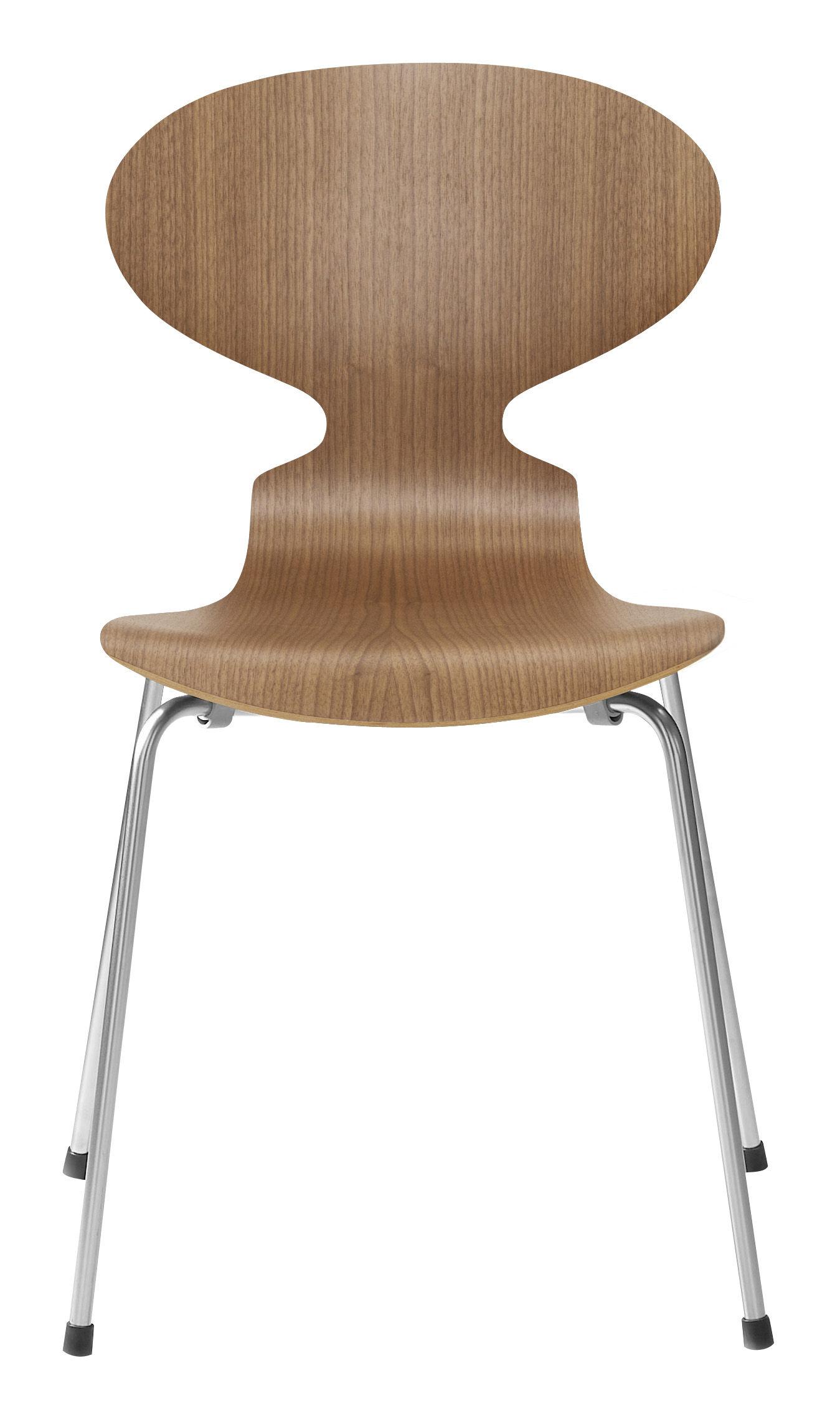 Chaise empilable fourmi bois naturel noyer fritz hansen for Chaise la fourmi