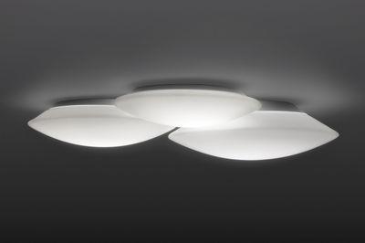 Luminaire - Appliques - Applique Puck Triple LED / Plafonnier - 56 x 49 cm - Vibia - Blanc - Verre soufflé
