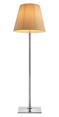 Leuchten - Stehleuchten - K Tribe F3 Soft Stehleuchte H 183 cm - Flos - Plissierter Stoff - Gewebe, poliertes Aluminium