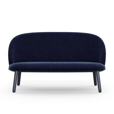 Ace straight sofa 2 seats l 145 cm velvet velvet for Sofa 70 cm deep