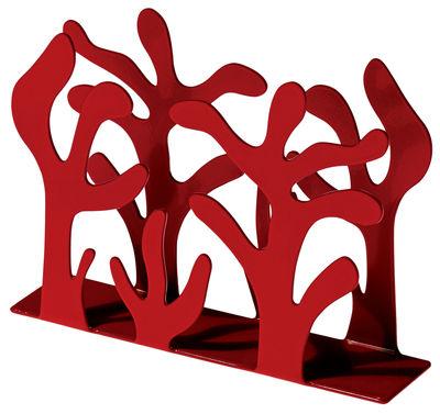 Kitchenware - Cool Kitchen Gadgets - Mediterraneo Napkin holder by Alessi - Red - Steel