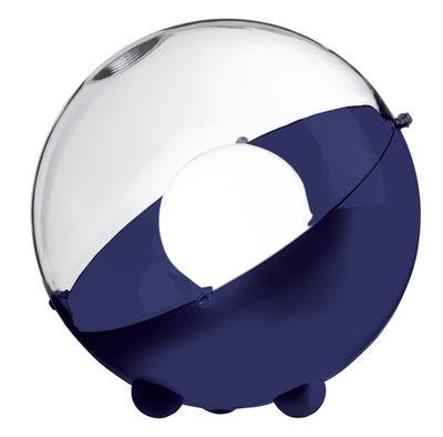 Lampe de table Orion Ø 33 cm Koziol transparent,bleu marine en matière plastique