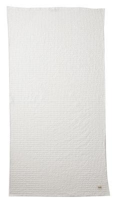 Accessoires - Accessoires salle de bains - Drap de bain Organic / 140 x 70 cm - Ferm Living - Blanc - Coton