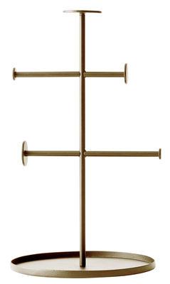 Porte bijoux Norm Collector H 27 cm Menu laiton en métal