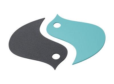 Dessous de plat Oiseaux / Métal - Fermob bleu lagune,carbone en métal