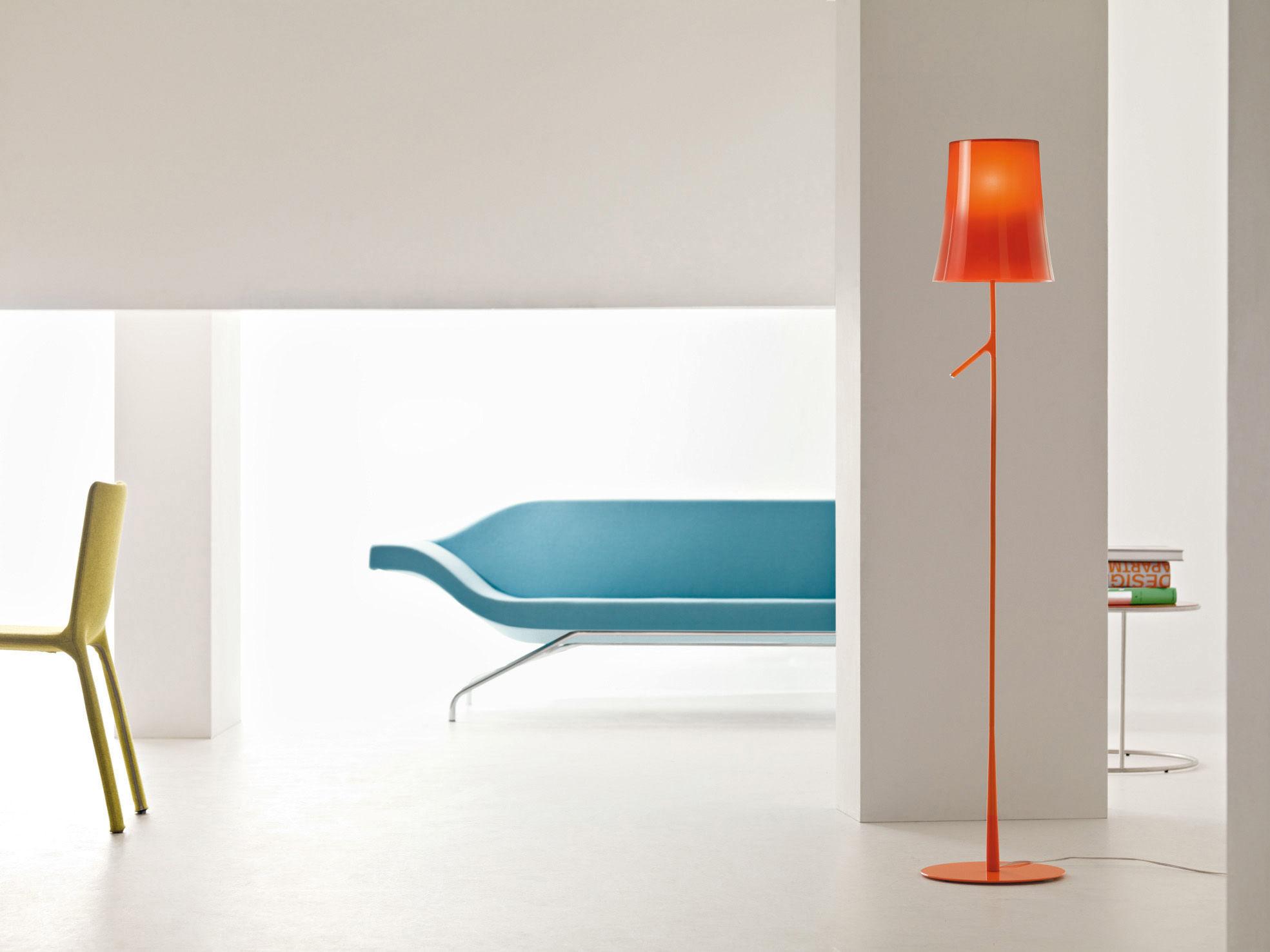lampadaire birdie blanc foscarini. Black Bedroom Furniture Sets. Home Design Ideas