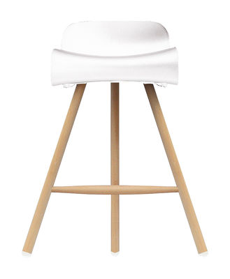 tabouret de bar bcn wood h 66 cm pieds bois blanc pied bois kristalia. Black Bedroom Furniture Sets. Home Design Ideas