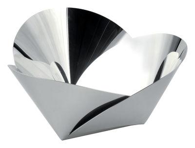 Tavola - Cesti, Fruttiere e Centrotavola - Cesto Harmonic di Alessi - Acciaio lucido - Acciaio inossidabile