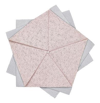 Arts de la table - Nappes, serviettes et sets - Décoration Iittala X Issey Miyake / Fleur de table - Ø 15 cm - Iittala - Rose clair - Polyester