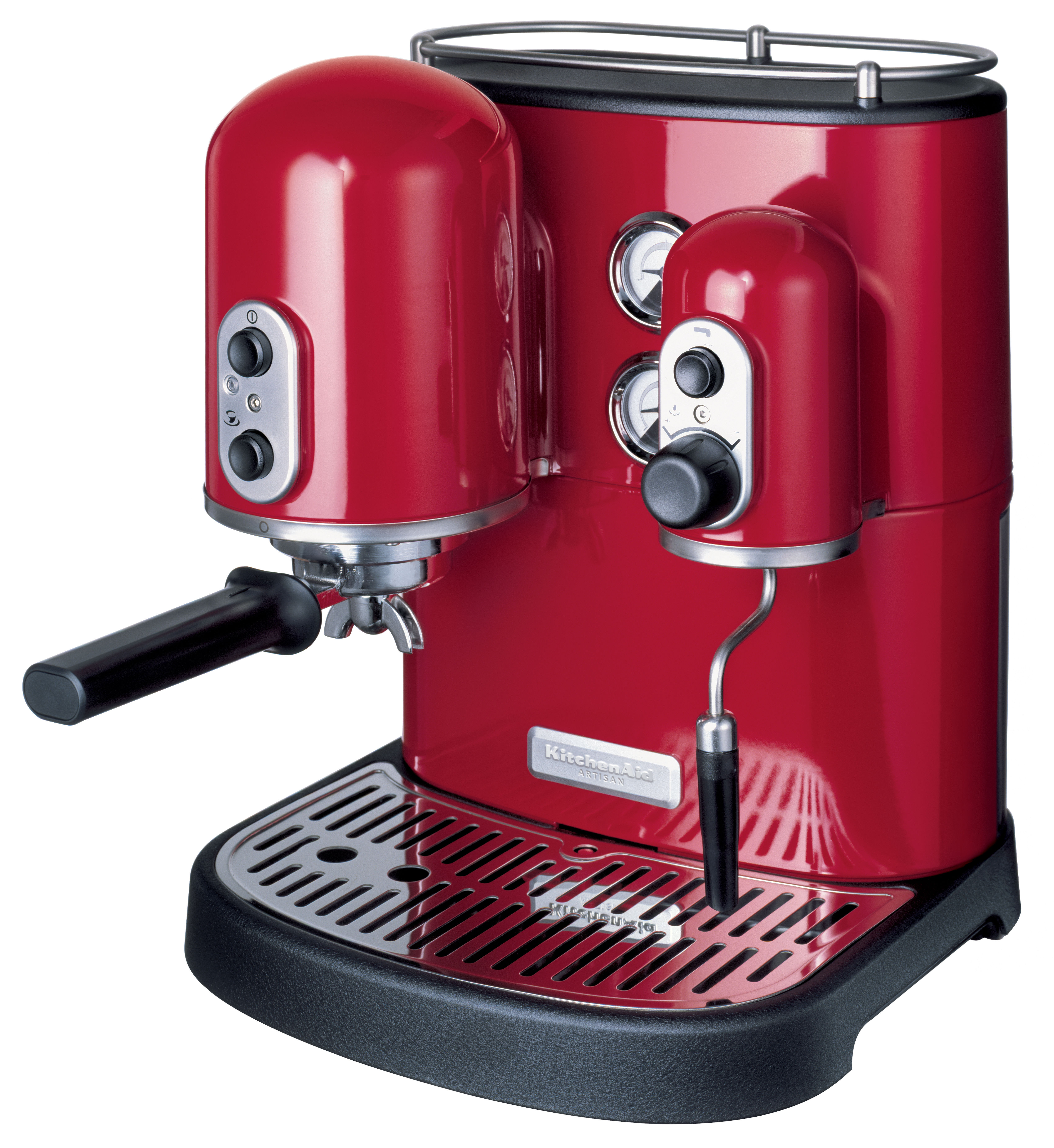 cafeti re expresso artisan pour dosettes et caf moulu rouge empire kitchenaid. Black Bedroom Furniture Sets. Home Design Ideas