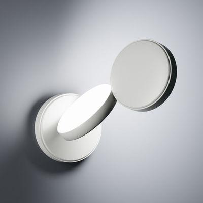 Luminaire - Appliques - Applique Optunia / LED - Orientable - Fontana Arte - Blanc - Aluminium peint, Verre