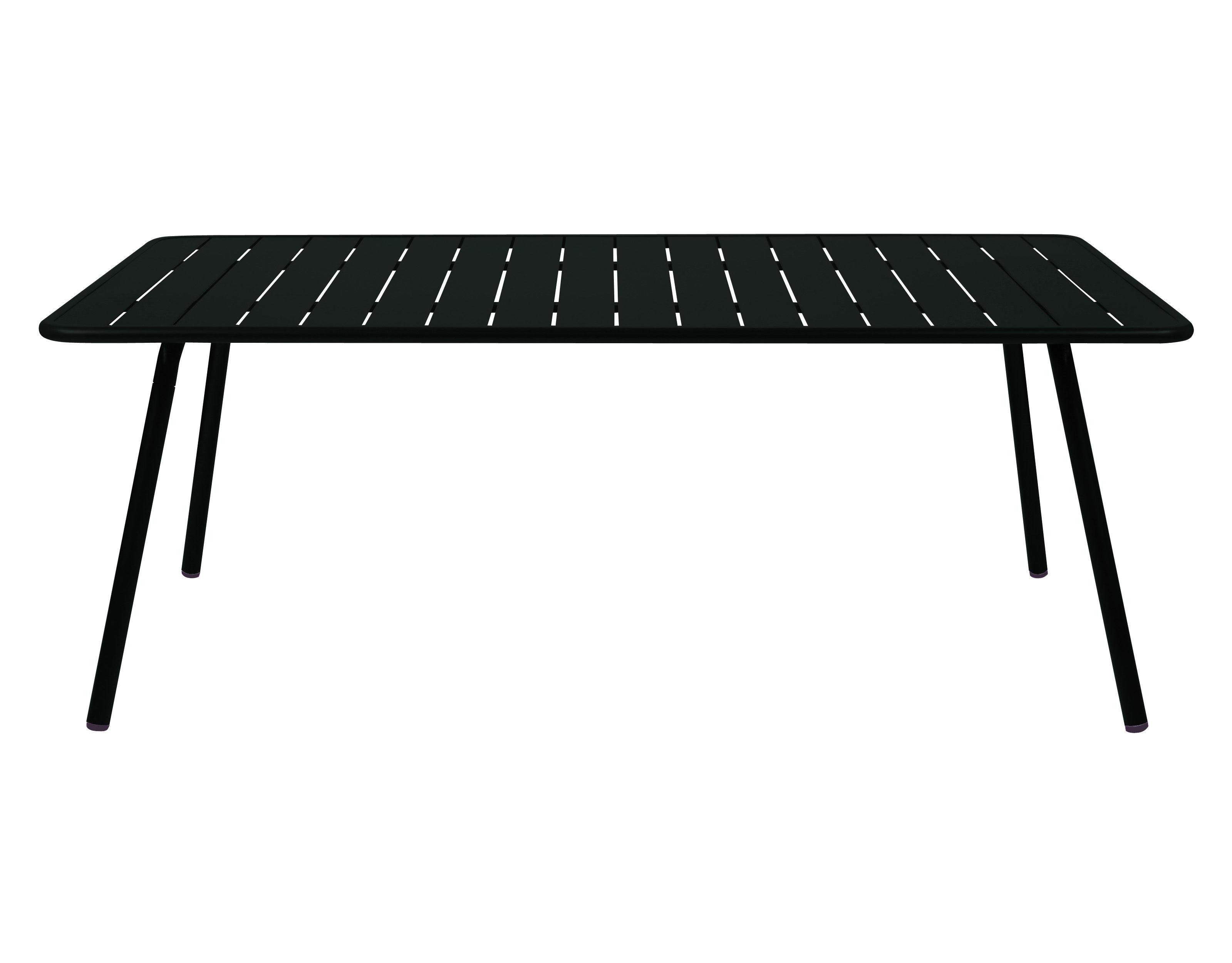 table luxembourg 8 personnes 207 x 100 cm aluminium r glisse fermob. Black Bedroom Furniture Sets. Home Design Ideas