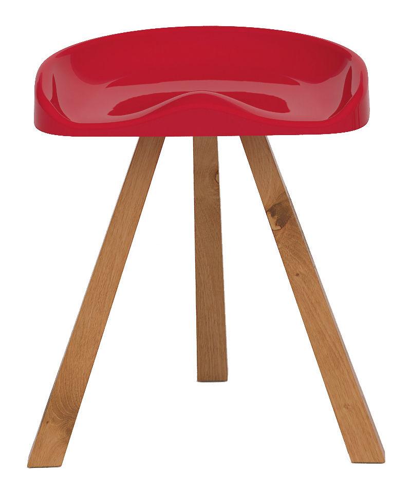 tabouret heidi plastique bois rouge established sons. Black Bedroom Furniture Sets. Home Design Ideas