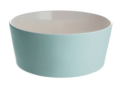 Saladier Tonale Ø 23 cm - Alessi blanc,vert en céramique
