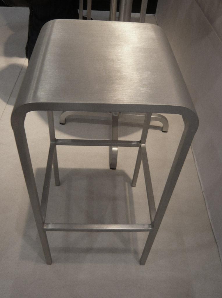 tabouret de bar 20 06 aluminium h 60 cm aluminium mat. Black Bedroom Furniture Sets. Home Design Ideas