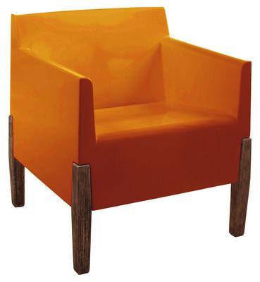 Poltrona Kubrick di Serralunga - Arancione,Legno - Materiale plastico