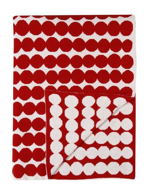 Plaid Räsymatto / 130 x 182 cm - Marimekko blanc,rouge en tissu