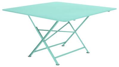 Table pliante Cargo 128 x 128 cm Fermob bleu lagune en métal
