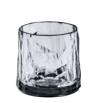 Verre Club No. 2 / H 8 cm - Koziol gris transparent en matière plastique