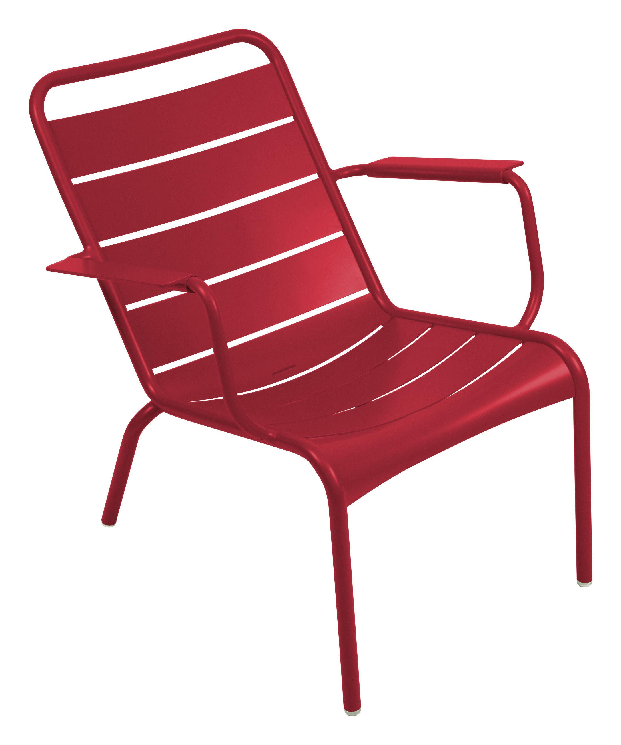 fauteuil bas luxembourg aluminium piment fermob. Black Bedroom Furniture Sets. Home Design Ideas