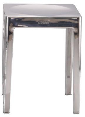 Furniture - Stools - Stool - H 46 cm by Emeco - Polished aluminium - Polished aluminium
