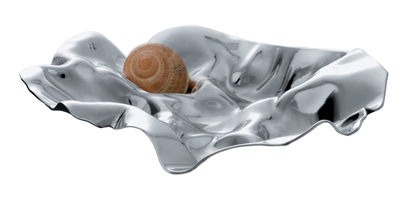 Tableware - Serving Plates - Amèlia Snail dish by Alessi - Steel mirror polished - Polished stainless steel