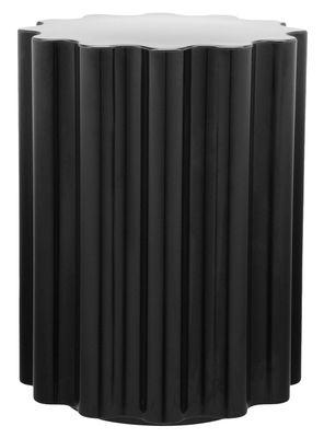 Tabouret Colonna H 46 x Ø 34,5 cm By Ettore Sottsass Kartell noir en matière plastique