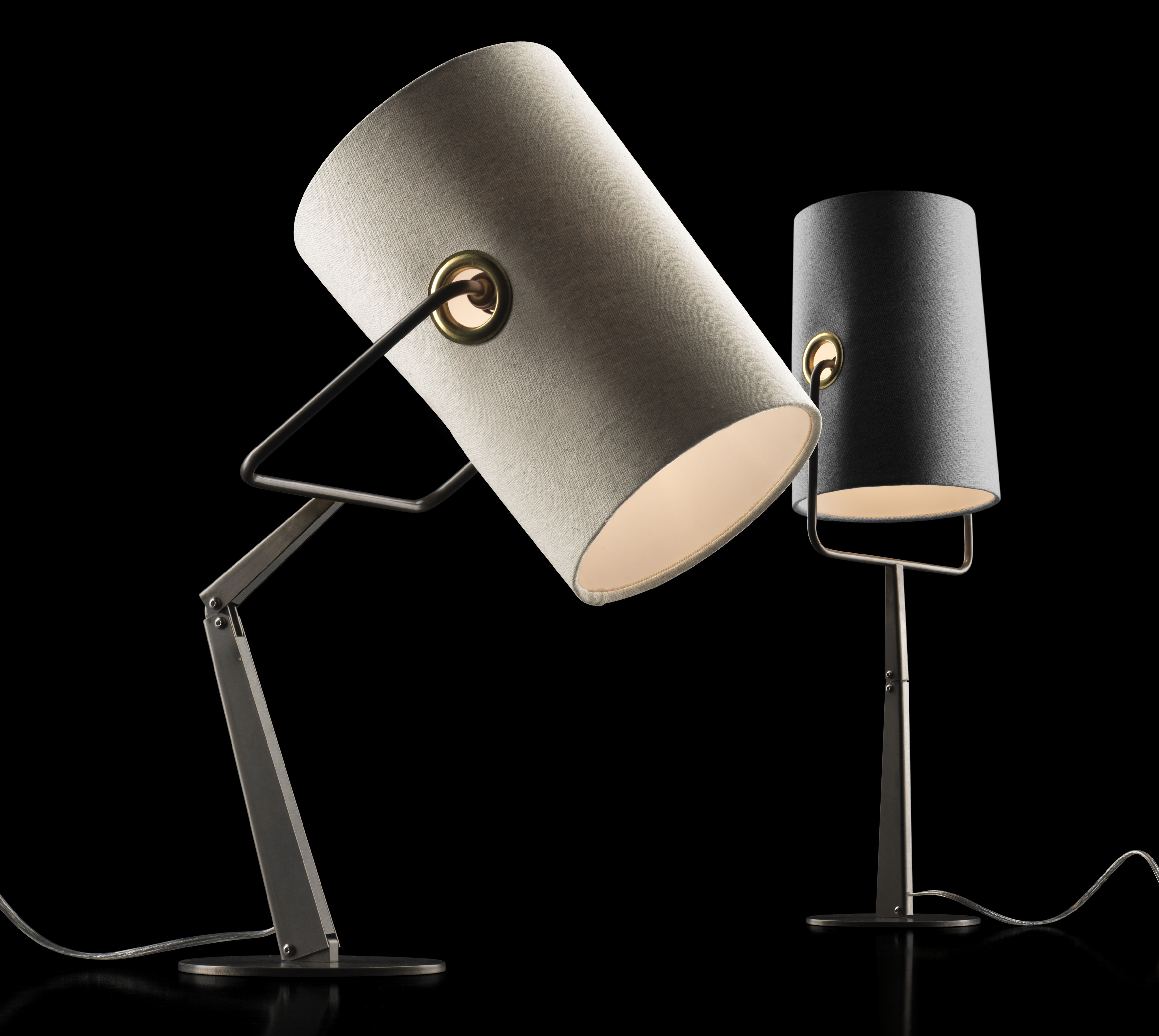 Fork table lamp grey brown base by diesel with foscarini for Design table lamp giffy 17 7
