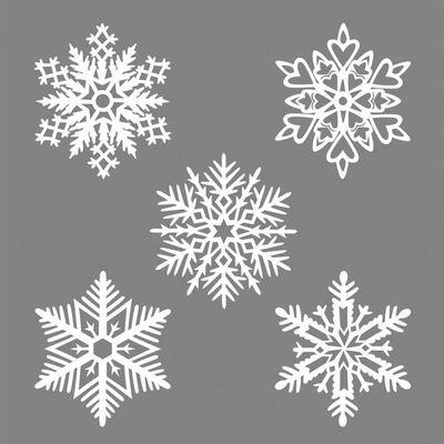 Décoration de fenêtre Mino Flocon n°7 / Set de 5 - Papier - Pa Design blanc en papier