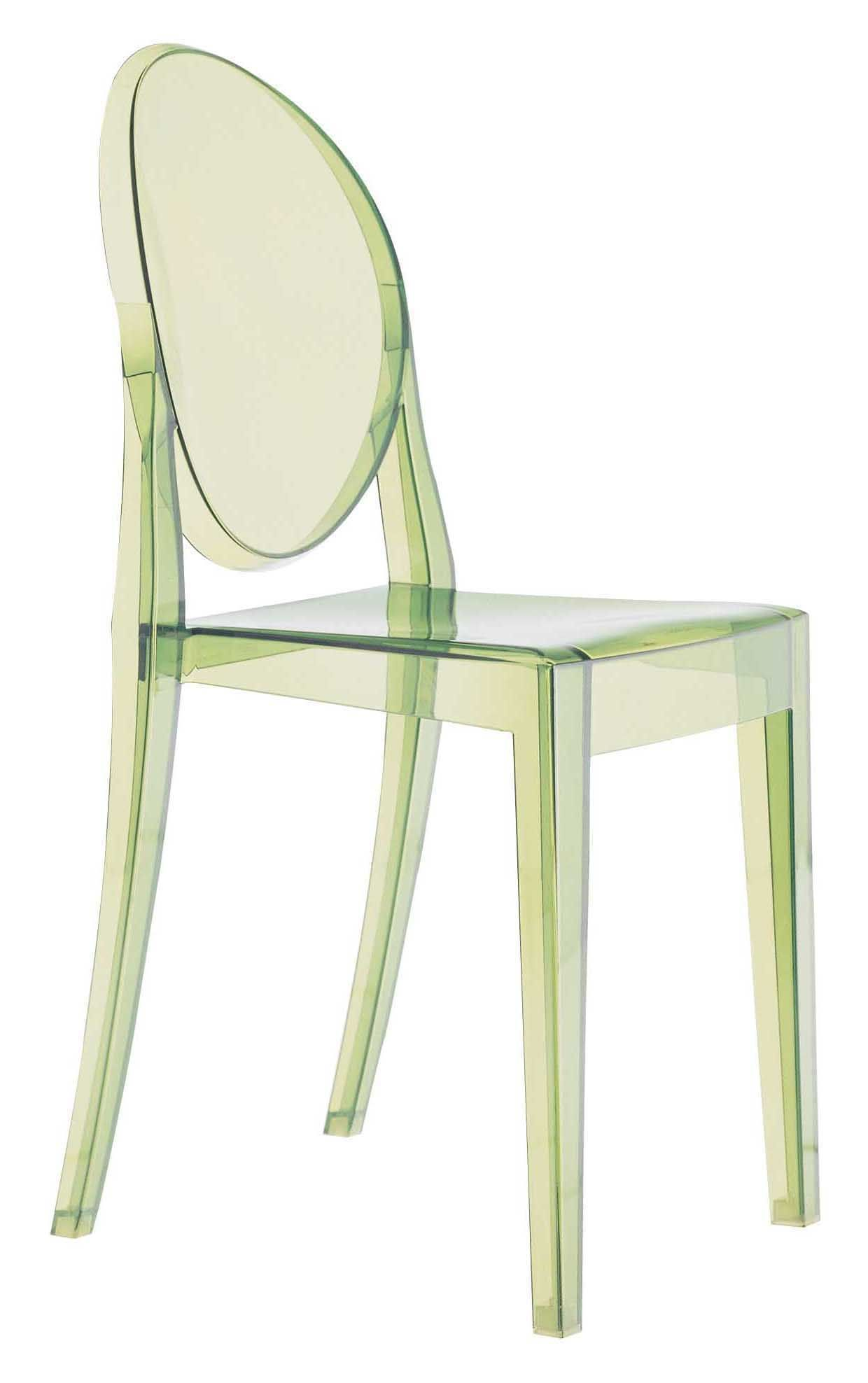 chaise empilable victoria ghost polycarbonate vert kartell. Black Bedroom Furniture Sets. Home Design Ideas