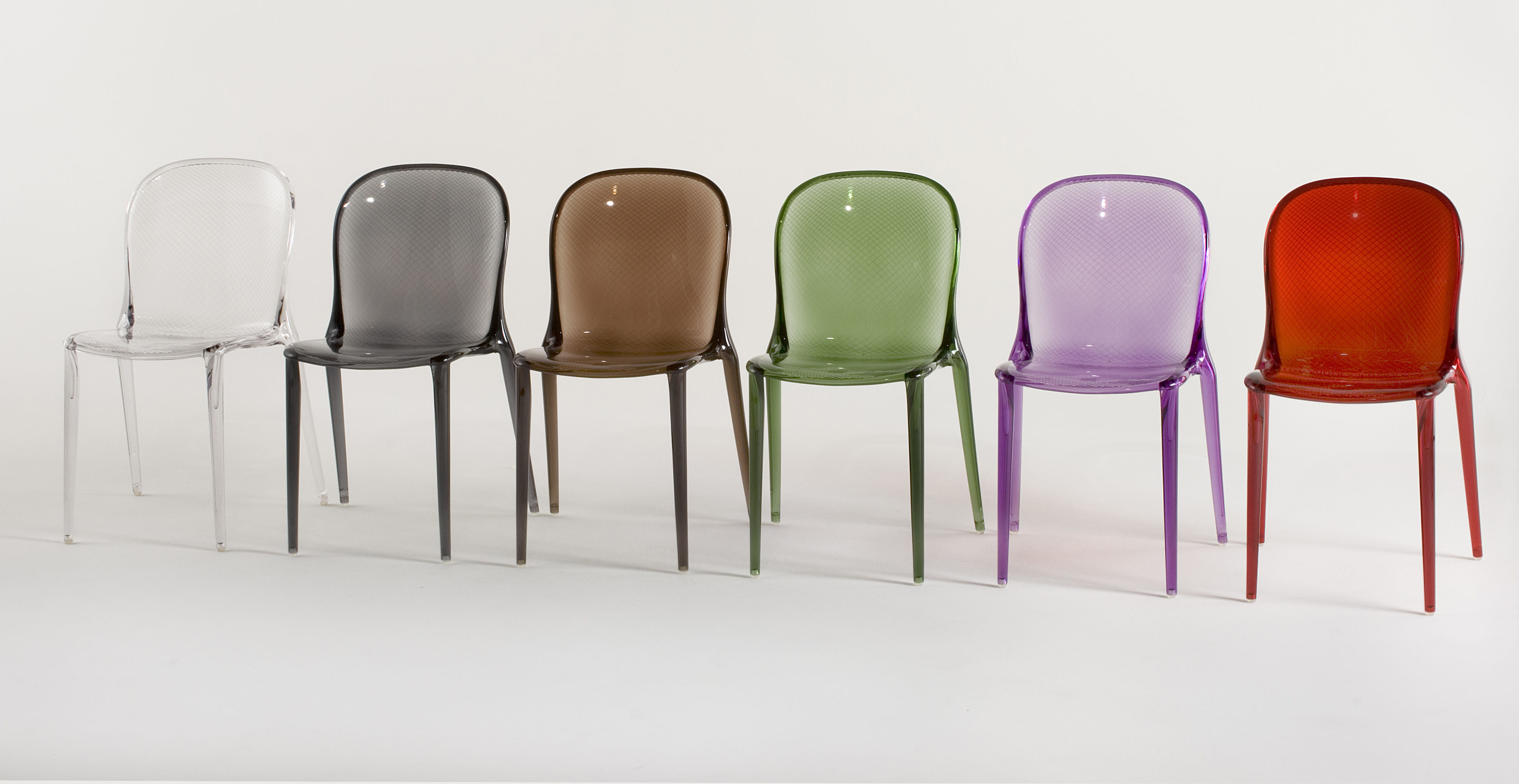 Thalya stacking chair polycarbonate green by kartell