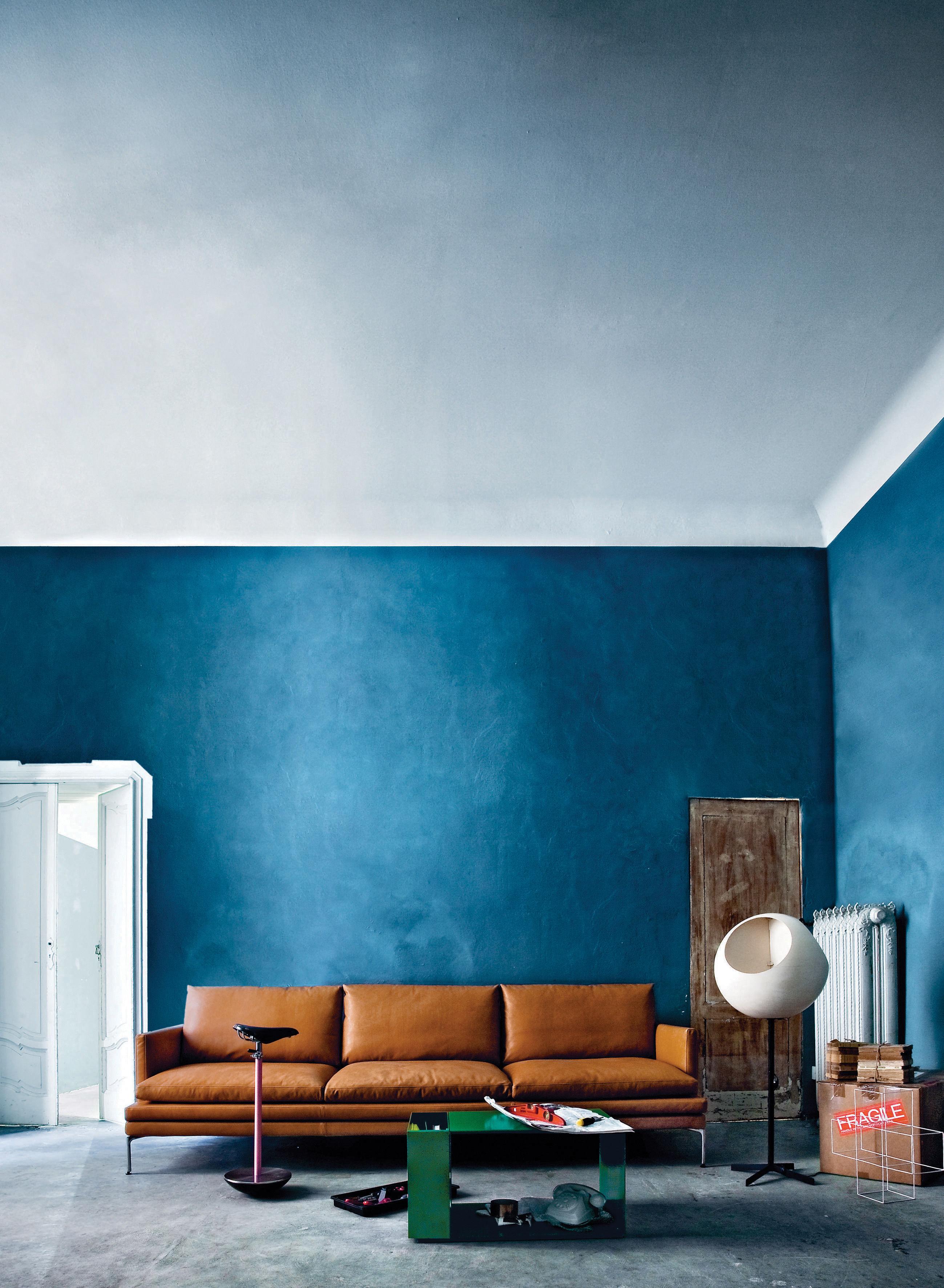 canap droit william cuir 3 places l 266 cm marron clair gold zanotta. Black Bedroom Furniture Sets. Home Design Ideas