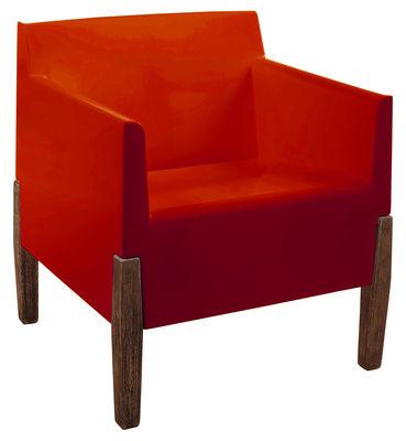 Chaise Kubrick - Serralunga rouge,bois en matière plastique