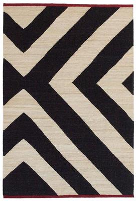 Tapis Mélange Zoom / 200 x 300 cm - Nanimarquina blanc,noir en tissu