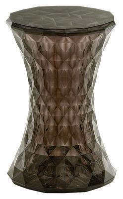 Foto Sgabello Stone di Kartell - Fumé - Materiale plastico