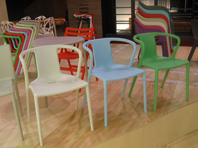 air armchair stackable armchair polypropylene orange by magis