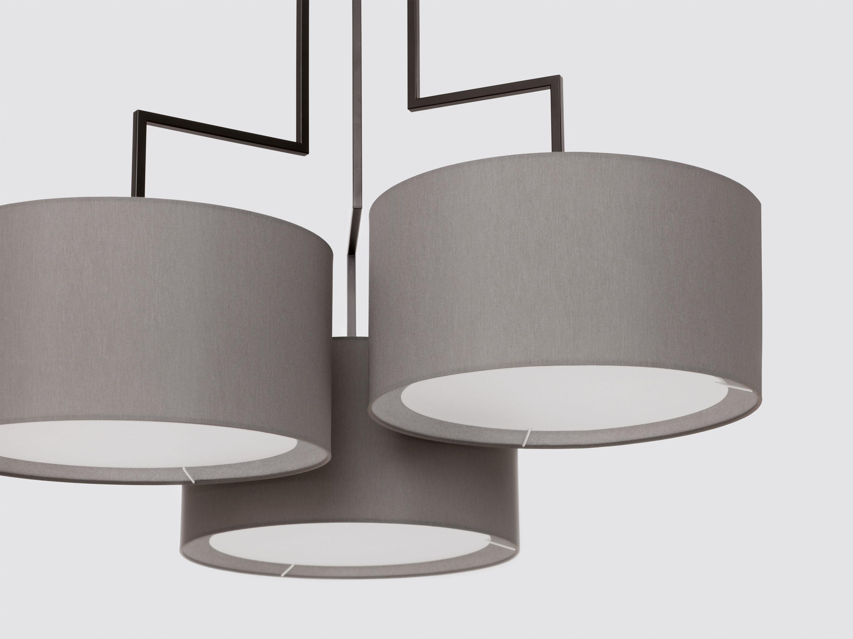 suspension noon 3 h 99 cm abat jour gris structure noir mat zeitraum made in design. Black Bedroom Furniture Sets. Home Design Ideas