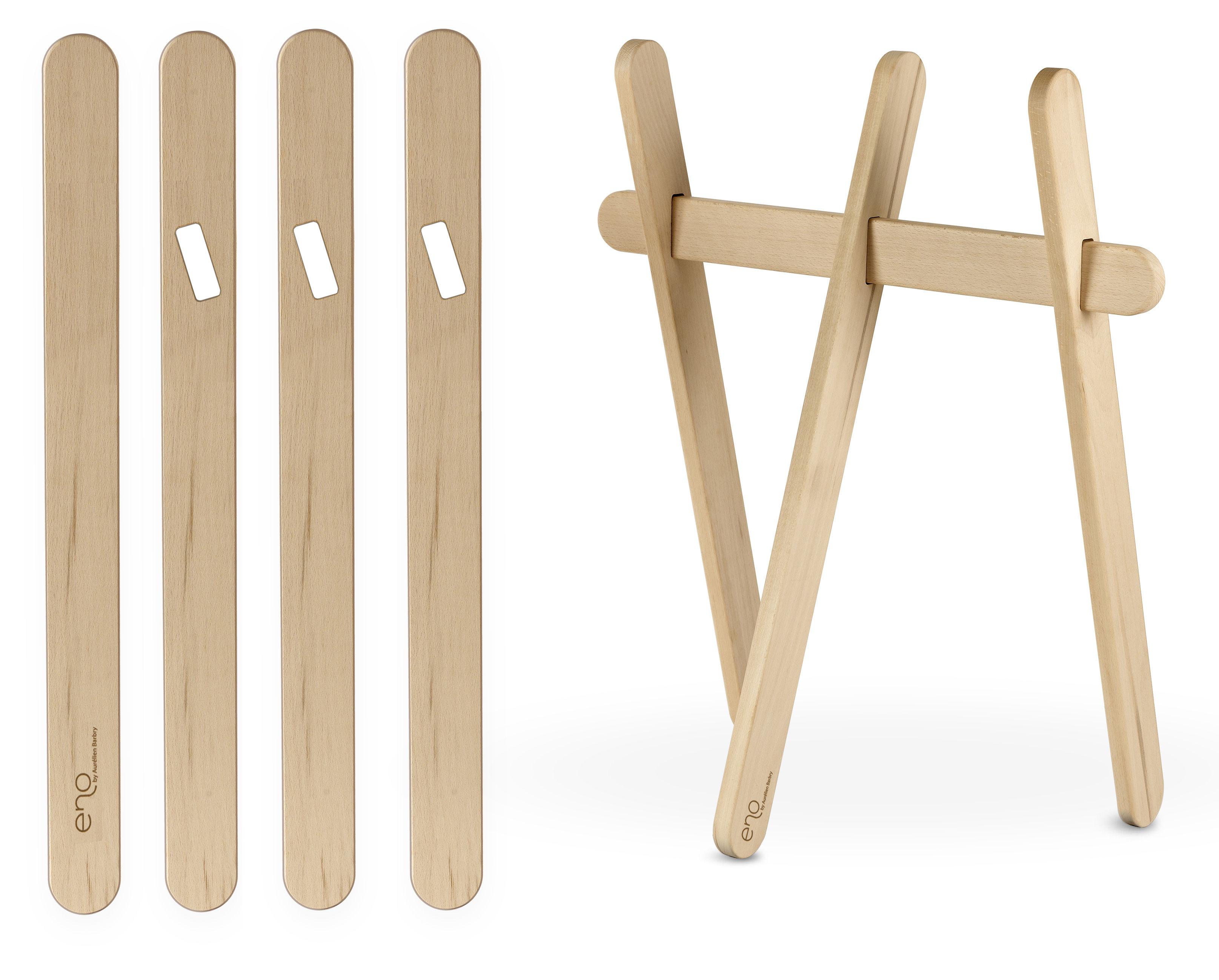 paire de tr teaux bois naturel enostudio. Black Bedroom Furniture Sets. Home Design Ideas