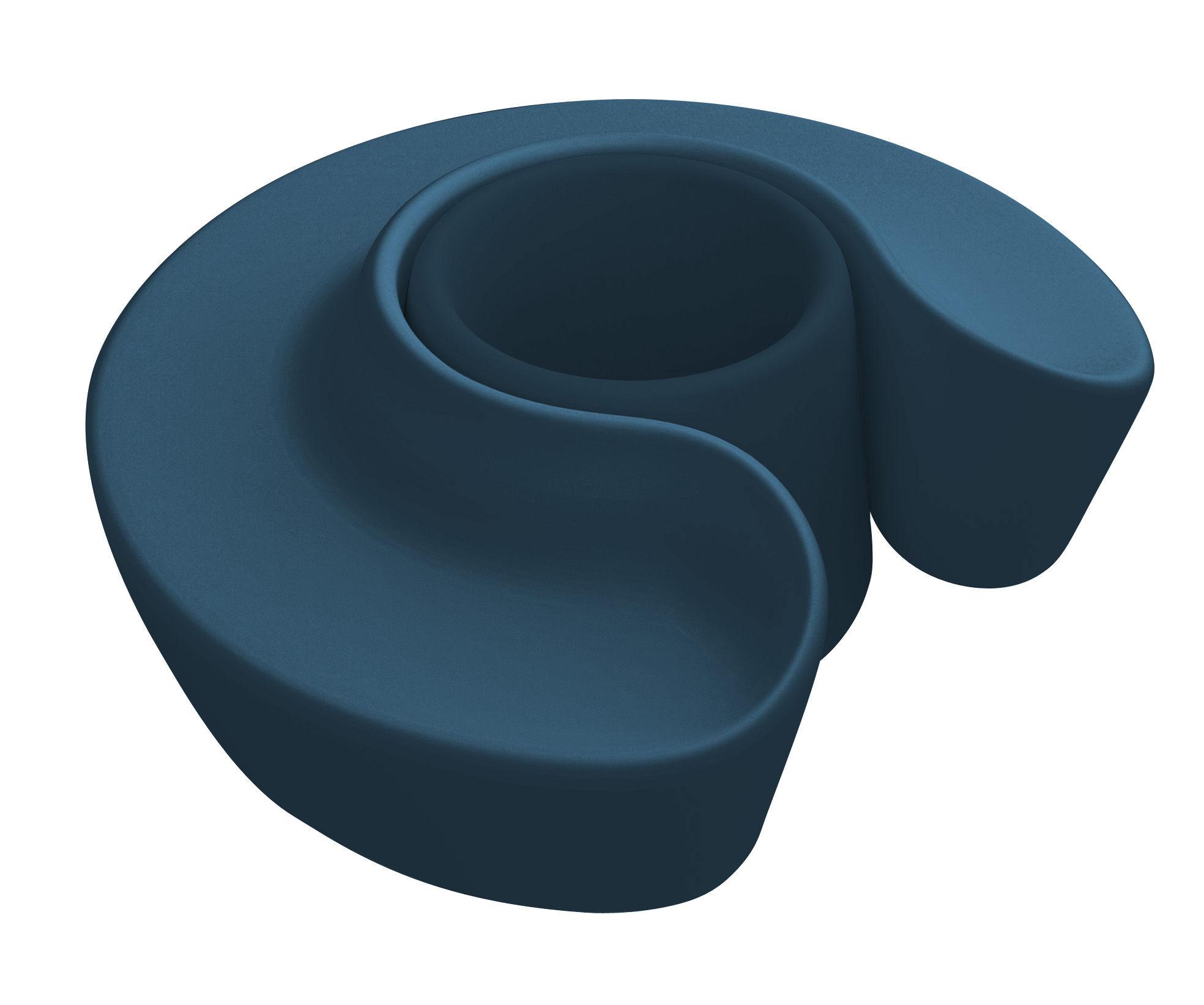 Banc sardana offre 1 banc rond 1 pot de fleurs xxl bleu nuit qui est paul made in design - Pot de fleur xxl ...