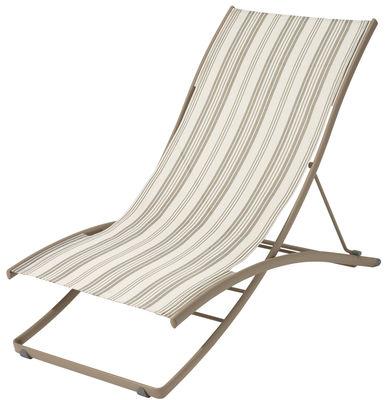 Chaise longue plein air pliante 2 positions toile for Chaise longue toile pliante