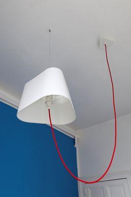 suspension grand nuage l 43 cm version d port e tissu blanc uni designheure. Black Bedroom Furniture Sets. Home Design Ideas