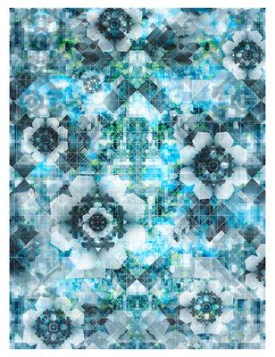 Déco - Tapis - Tapis Digit Sky / 400 x 300 cm - Moooi Carpets - Tons bleus - Polyamide