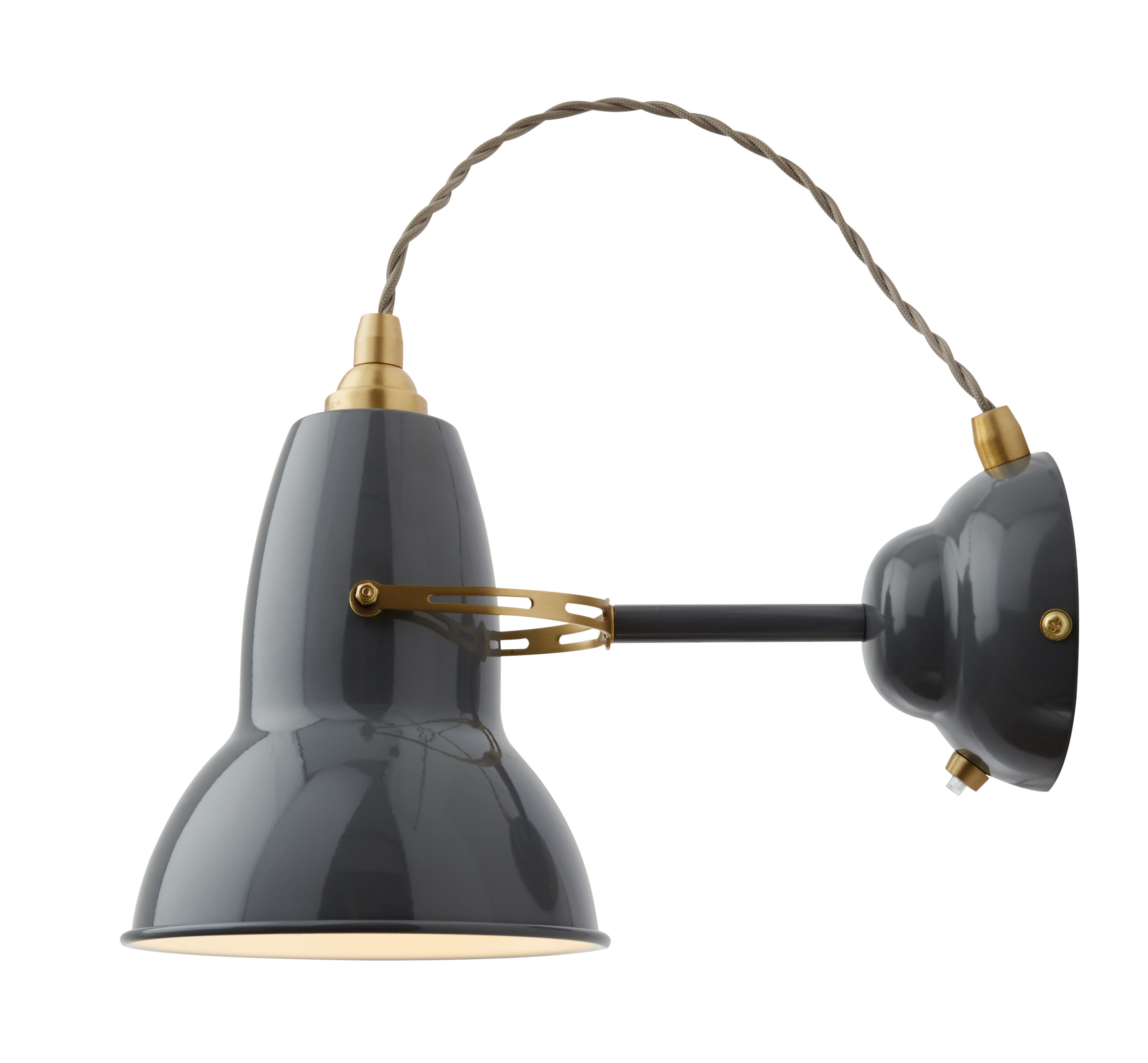 Original 1227 Wall light - Brass Elephant Grey by Anglepoise