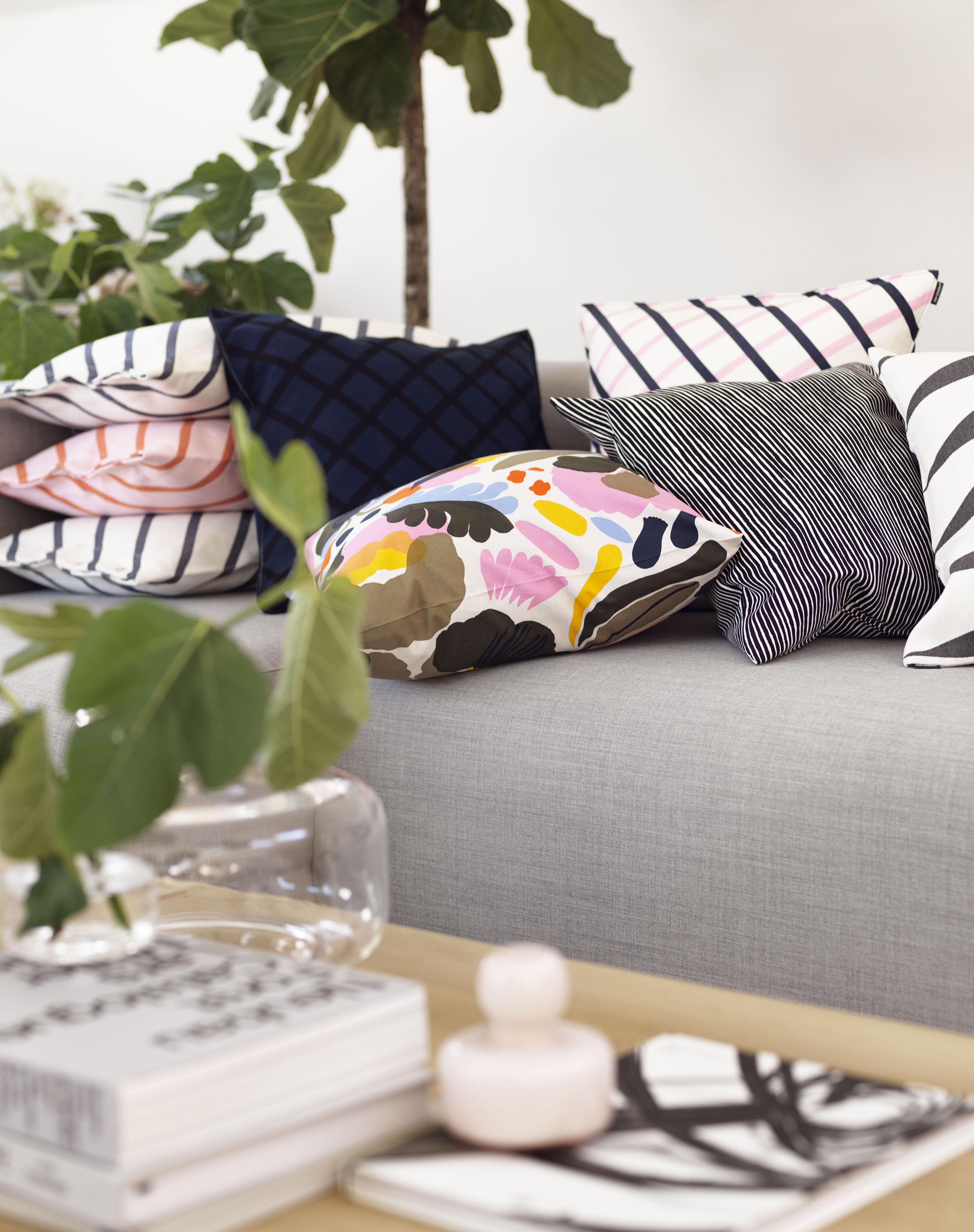fayette furniture unikko blue bedding bed marimekko design